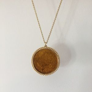 Vintage Preserved Golden Butterfly/Petal Necklace